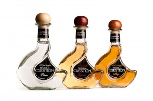 Bottles of blanco, reposado, and anejo